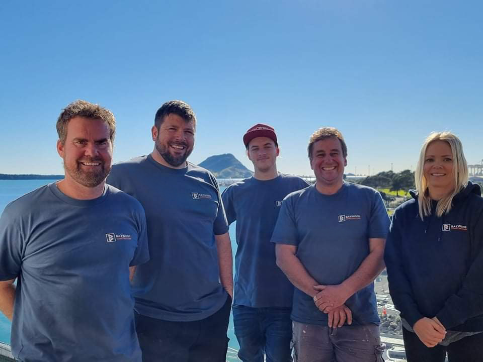 the team from Baywood Construction-Mt Maunganui